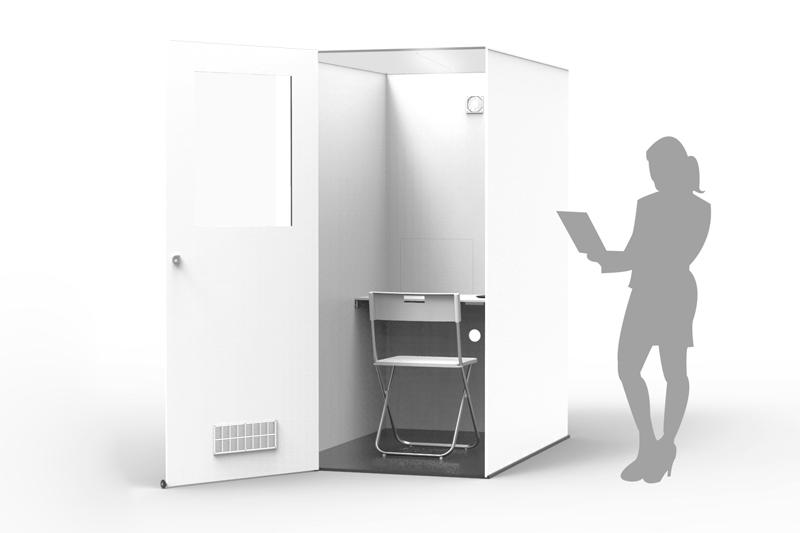 Cabine pour l'isolation sensorielle totale des tests organoleptiques