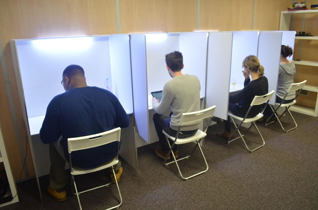 cabine d'analyse sensorielle mobile et démontable pour les tests-test organoleptique-produit-concept-packaging-Repères