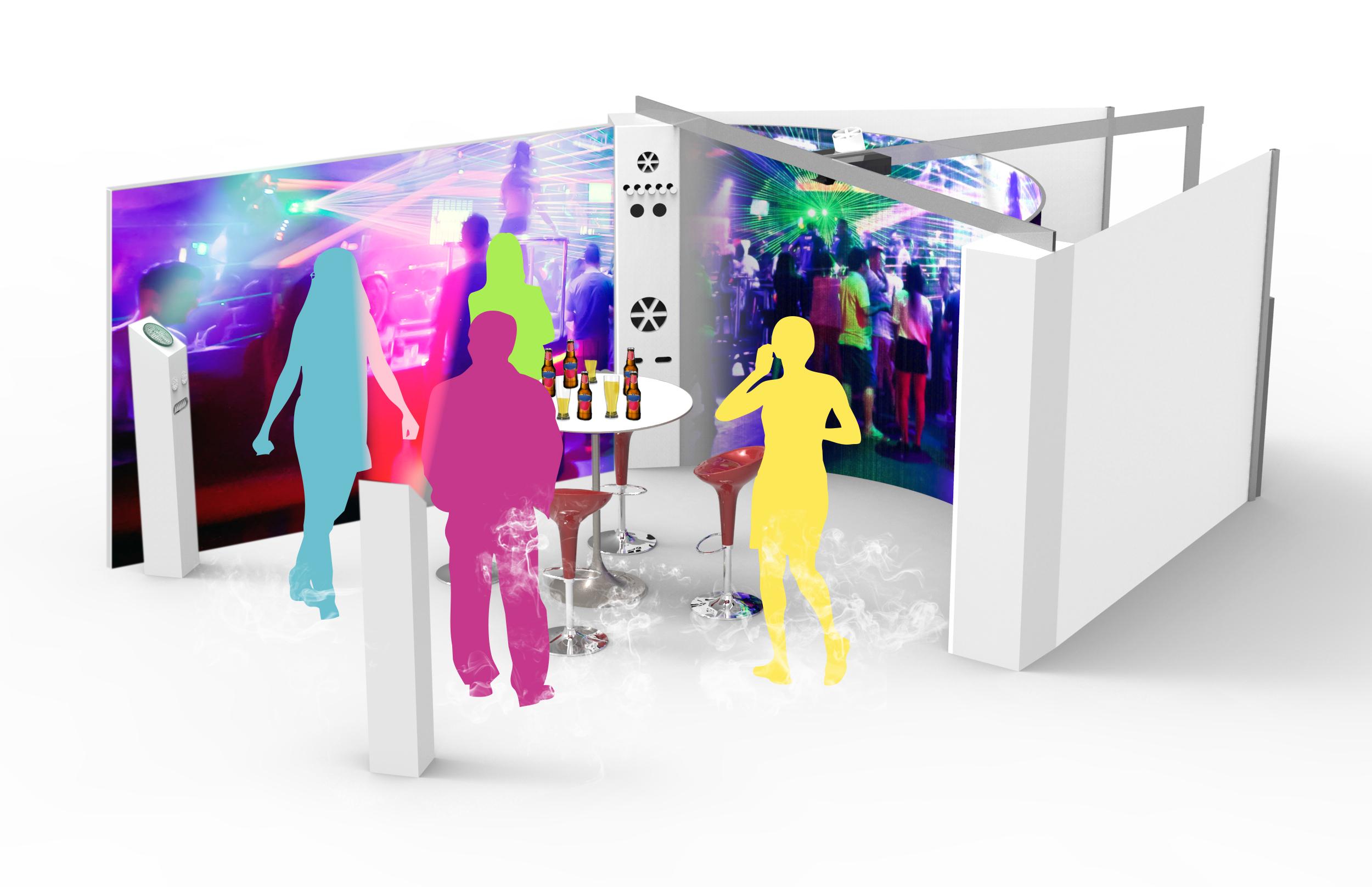 Immersive Room-enceinte-polysensoriel-polysensoriel-multi-sensoriel-multisensoriel-vent-fumée-brumisation-chaleur-froid-température-son-test produit-consommateur-marketing-communication-evenementiel-design